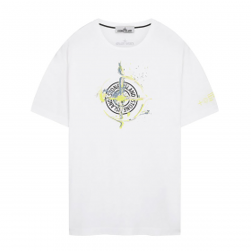 STONE ISLAND  MARBLE ONE T-SHIRT IN WHITE