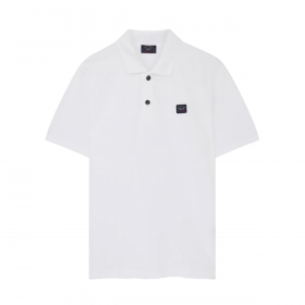 PAUL & SHARK PATCH LOGO POLO IN WHITE