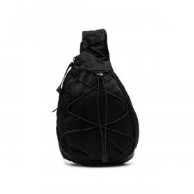 C.P COMPANY NYLON SATEEN SHOULDER BAG IN BLACK