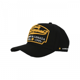 DSQUARED2 'BORN IN CANADA' CAP IN BLACK