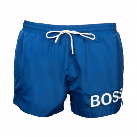 BOSS 'MOONEYE' SHORT LENGHT SHORTS IN BLUE