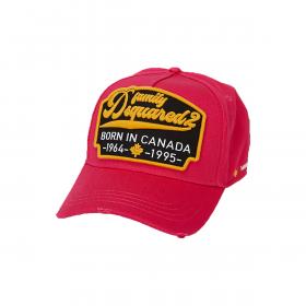 DSQUARED2 'BORN IN CANADA' CAP IN RED