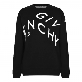 GIVENCHY REFRACTED LOGO SWEATER IN BLACK