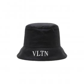 VALENTINO COTTON BUCKET HAT IN BLACK