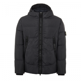 STONE ISLAND CRINKLE REPS NY DOWN JACKET IN BLACK
