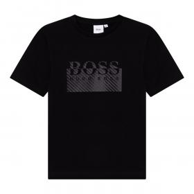 BOSS JUNIOR LARGE LOGO T-SHIRT IN BLACK