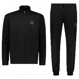 PAUL & SHARK TRACKSUIT WITH TONE ON TONE LOGO IN BLACK
