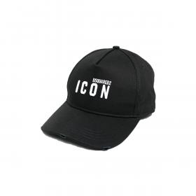 DSQUARED2 MINI ICON LOGO CAP IN BLACK