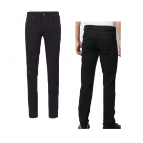 BOSS MID RISE SLIM FIT JEANS IN BLACK