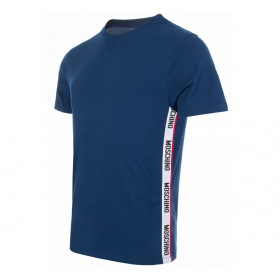 MOSCHINO SIDE TAPE T-SHIRT IN BLUE