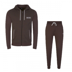 BOSS 'CONTEMP. JACKET H' TRACKSUIT IN BROWN