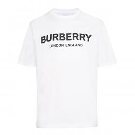 BURBERRY LONDON LOGO PRINT T-SHIRT IN WHITE
