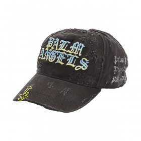 PALM ANGELS LOGO-EMBROIDERED COTTON CAP