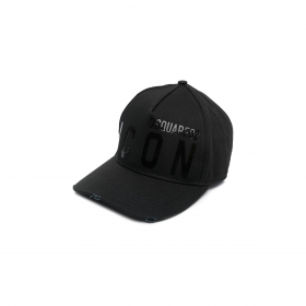 DSQUARED2 BE ICON CAP IN BLACK