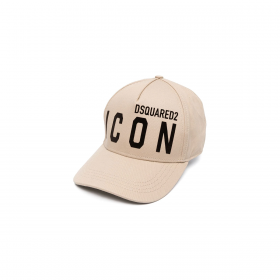 DSQUARED2 BE ICON CAP IN BEIGE