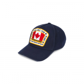 DSQUARED2 CANADIAN FLAG CAP IN NAVY
