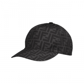 FENDI FF BASEBALL CAP IN BLACK