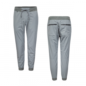 CP COMPANY STRETCH SATEEN GARMENT DYED UTILITY BOTTOMS IN GREY
