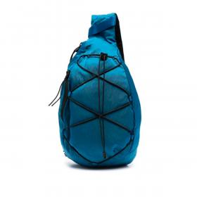 C.P COMPANY NYLON SATEEN SHOULDER BAG IN BLUE