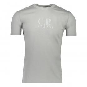 CP COMPANY CLASSIC LOGO T-SHIRT IN MOON MIST