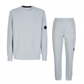 CP COMPANY CREW NECK TRACKSUIT IN GREY
