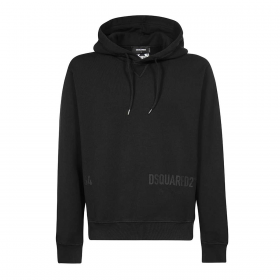 DSQUARED2 D2 64 COOL HOODIE IN BLACK