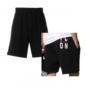 DSQUARED2 KNEE LENGTH TRACK SHORTS IN  BLACK