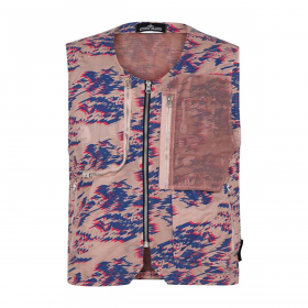 STONE ISLAND SHADOW PROJECT UTILITY VEST IN ROSE