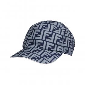 FENDI FF BASEBALL CAP IN BLUE
