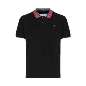 VIVENNE WESTWOOD CLASSIC POLO STRIPE COLLAR IN BLACK