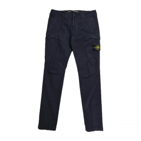 STONE ISLAND SLIM-FIT TROUSERS IN NAVY BLUE