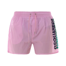 DSQUARED2 OMBRE LOGO SWIM SHORTS IN PINK