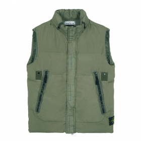 STONE ISLAND CRINKLE REPS TC GILLET IN GREEN