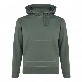 CP COMPANY GOGGLE DETAIL HOODIE IN GREEN