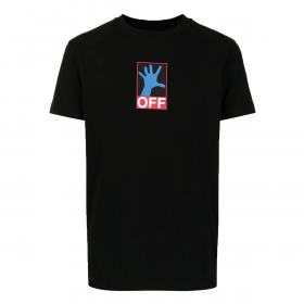 OFF-WHITE 90'S HAND SLIM FIT T-SHIRT IN BLACK