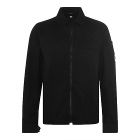 CP COMPANY ZIP UP OVERSHIRT IN BLACK