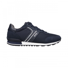 BOSS PARKOUR RUNNERS TRAINERS IN NAVY BLUE