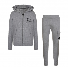 CP COMPANY JUNIOR HOODED TRACKSUIT IN GREY