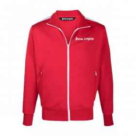 PALM ANGELS CHEST LOGO-PRINT TRACK JACKET IN RED
