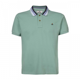 VIVENNE WESTWOOD CLASSIC POLO STRIPE COLLAR IN MINT GREEN