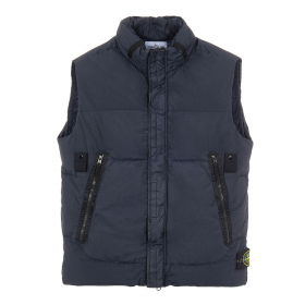 STONE ISLAND CRINKLE REPS TC GILLET IN NAVY