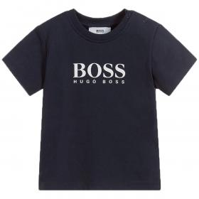 BOSS INFANT LOGO T-SHIRT IN NAVY