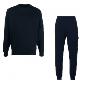CP COMPANY CREW NECK TRACKSUIT IN NAVY BLUE