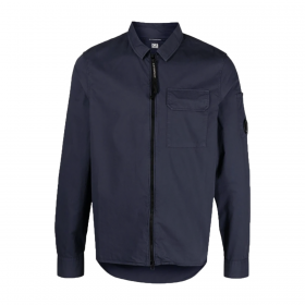 CP COMPANY ONE POCKET OVERSHIRT IN NAVY BLUE