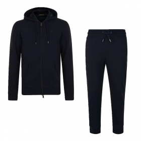 EMPORIO ARMANI ZIPPED HOODED TRACKSUIT IN NAVY