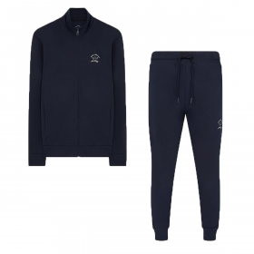PAUL & SHARK TRACKSUIT WITH TONE ON TONE LOGO IN NAVY