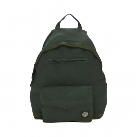 STONE ISLAND LOGO PATCH BACKPACK IN GREEN