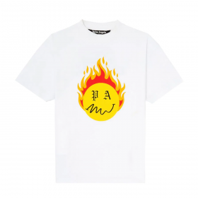 PALM ANGELS BURNING HEAD T-SHIRT IN WHITE