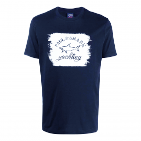 PAUL & SHARK GRAPHIC LOGO T-SHIRT IN NAVY