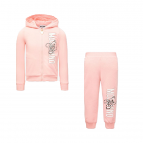 MOSCHINO BABY TEDDY BEAR TRACKSUIT IN BABY PINK